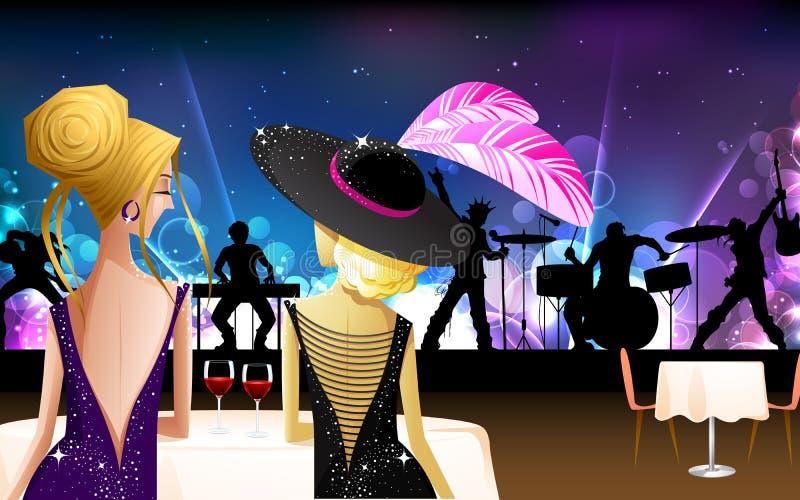 Download Women enjoying live Band stock illustration. Image of elegance - 26391025