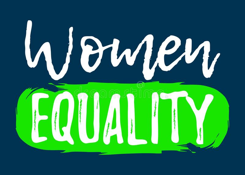 Women Equality label. Font with Brush. Equal Rights Badges. Vector illustration icon.  vector illustration