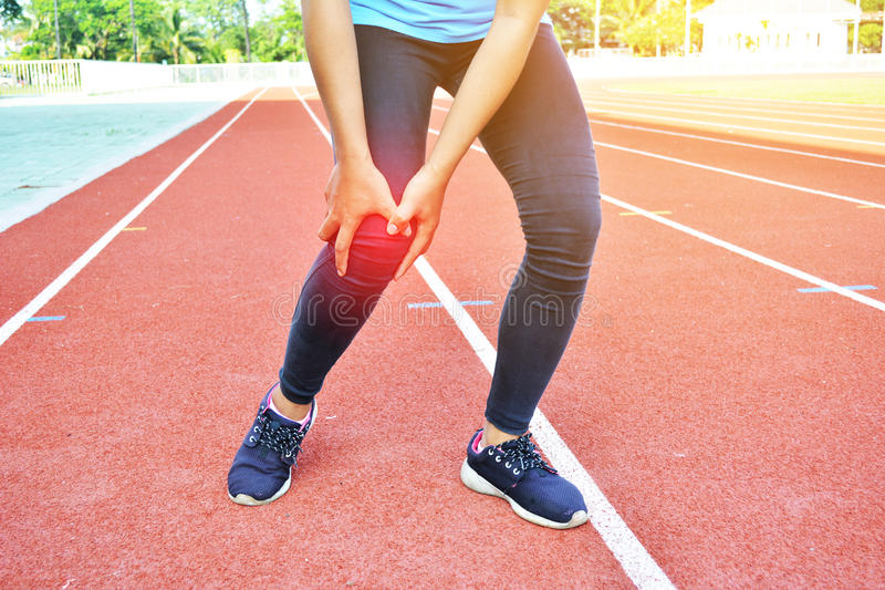Women exercise in the stadium. Selective focus royalty free stock images