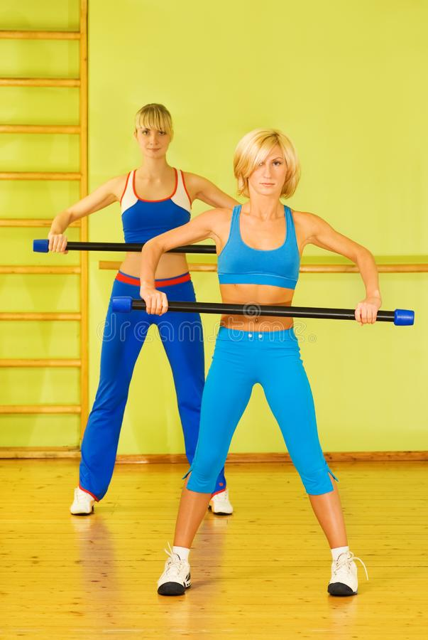 Women exercising stock photo