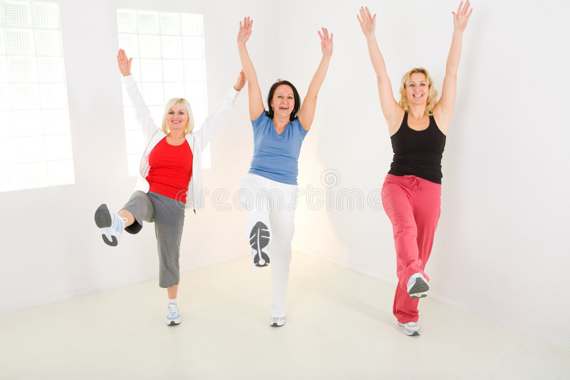 Women during exercising royalty free stock image