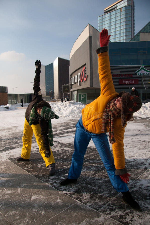 Download Women Exercising In Winter Cold, Vilnius Editorial Stock Photo - Image: 23297223