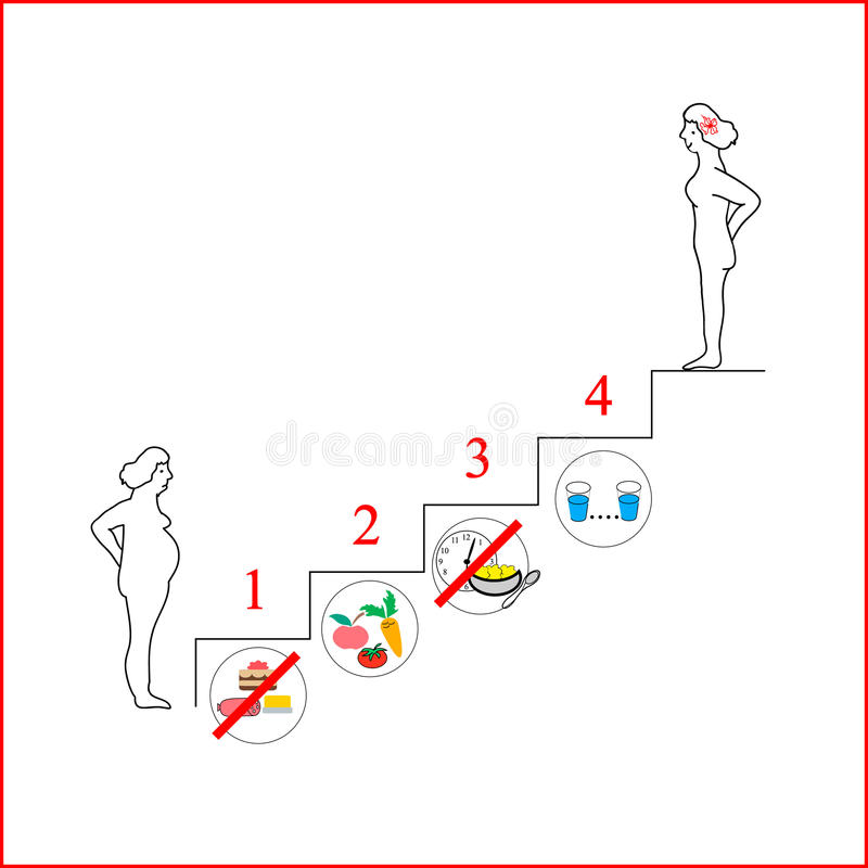 Women exists before and after the diet,healthy lifestyle,vector. The power supply system for weight loss. vector illustration