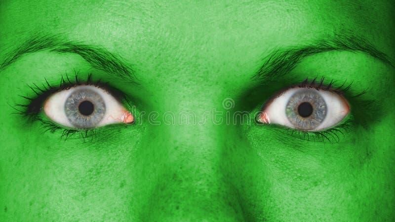 Women eye, close-up stock images