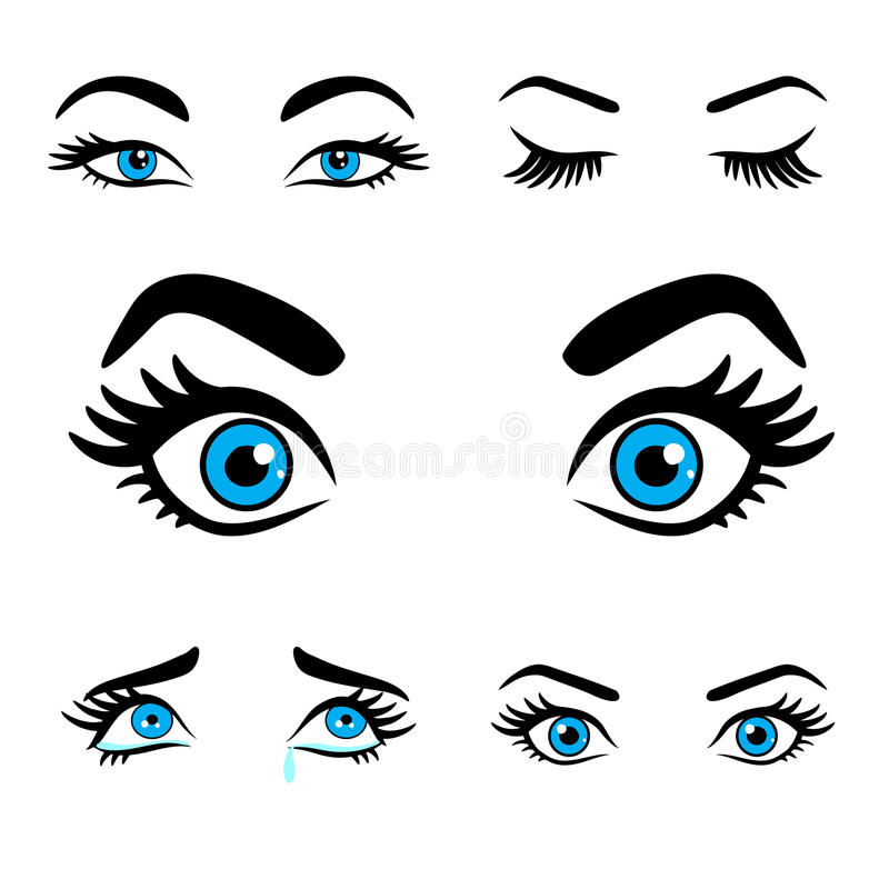 Free Women Eyes Expressions Set 2 Stock Images - 74298334