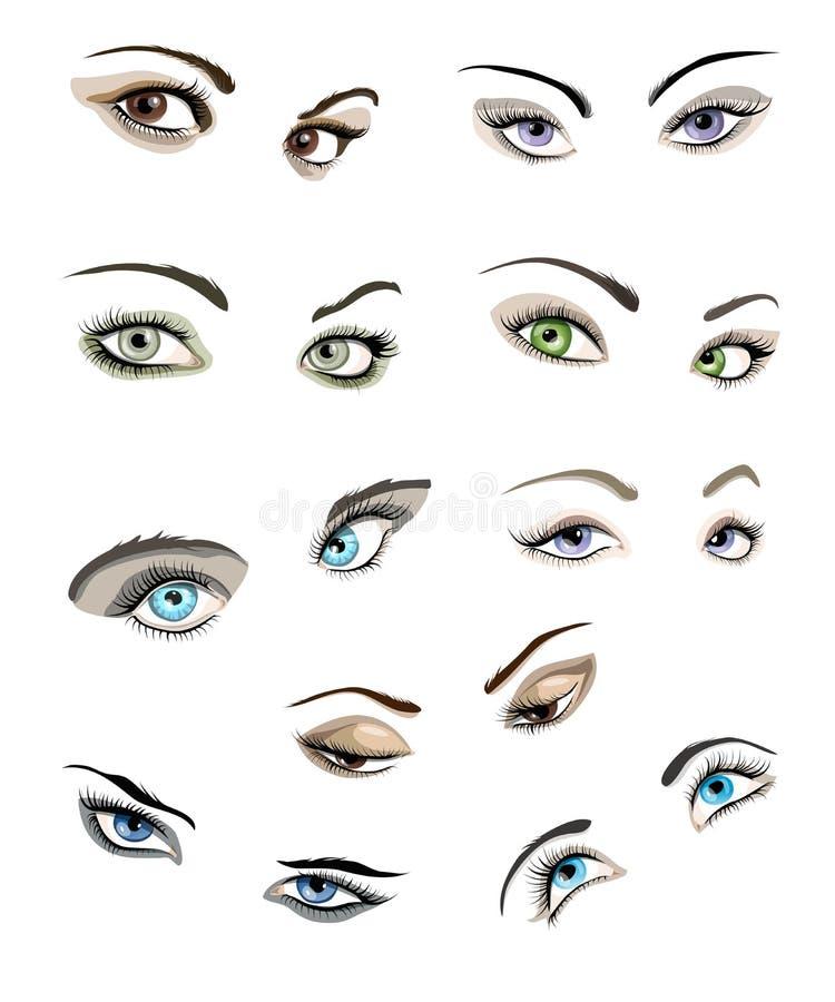 Women Eyes Set Stock Photo