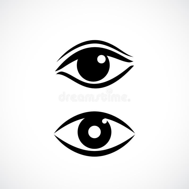 Women eyes vector icon. S set stock illustration