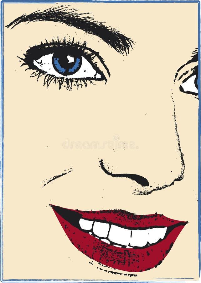 Women face. Illustration part of women face royalty free illustration