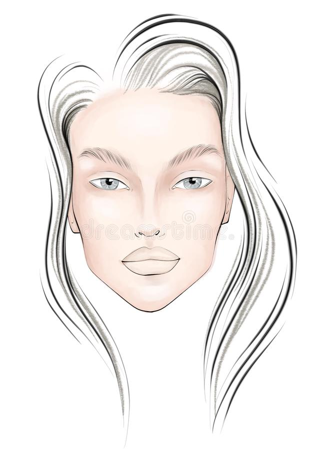 Free Women Face Chart In Color Royalty Free Stock Photography - 156386437