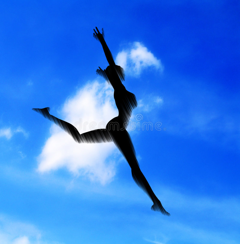 Women falling vector illustration