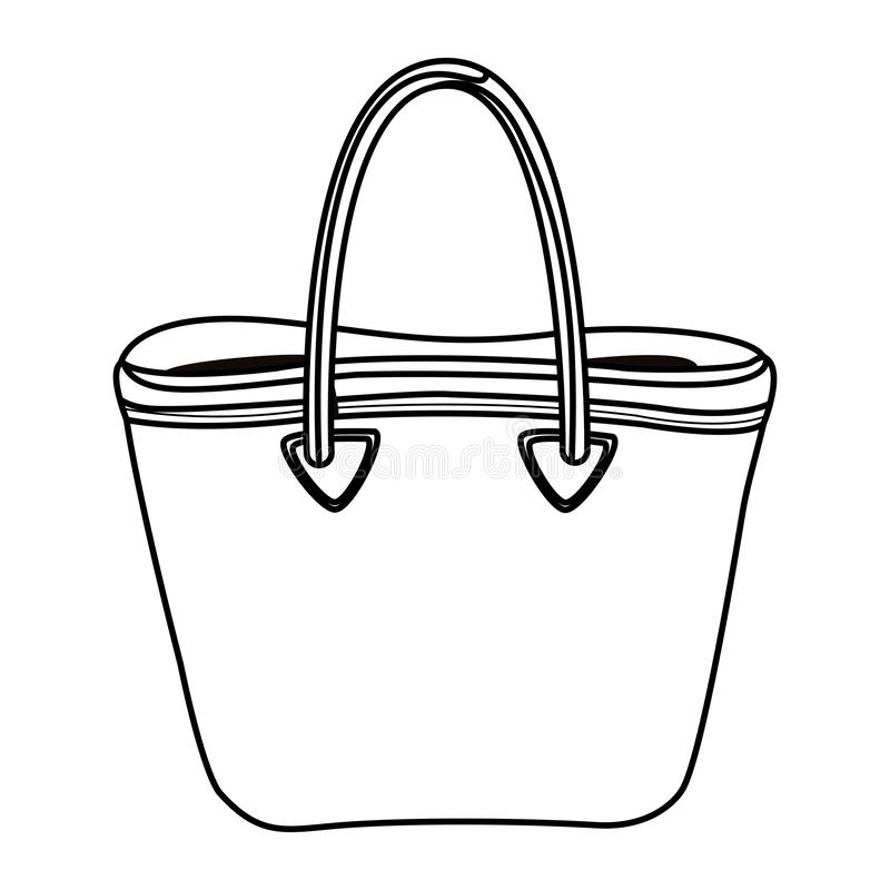 Women fashion bag accesory cartoon in black and white royalty free illustration