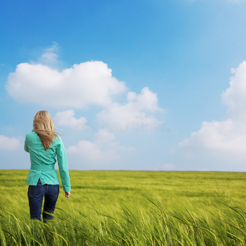 Download Women in Field stock image. Image of summer, recovering - 2456059