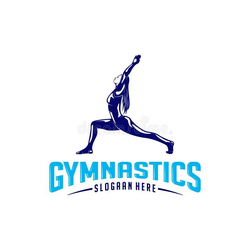 Women fitness exercise logo . Gymnastics Logo Template. Healthy Sexy body  stock illustration