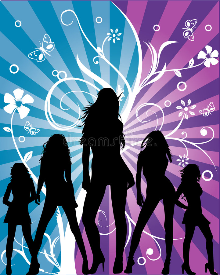 Download Women floral fashion stock vector. Illustration of decoration - 4332144