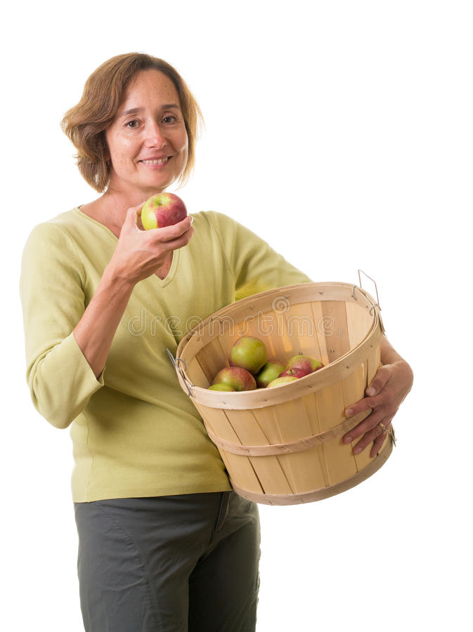 Download Women With Fresh Picked Apples Stock Image - Image: 26660109