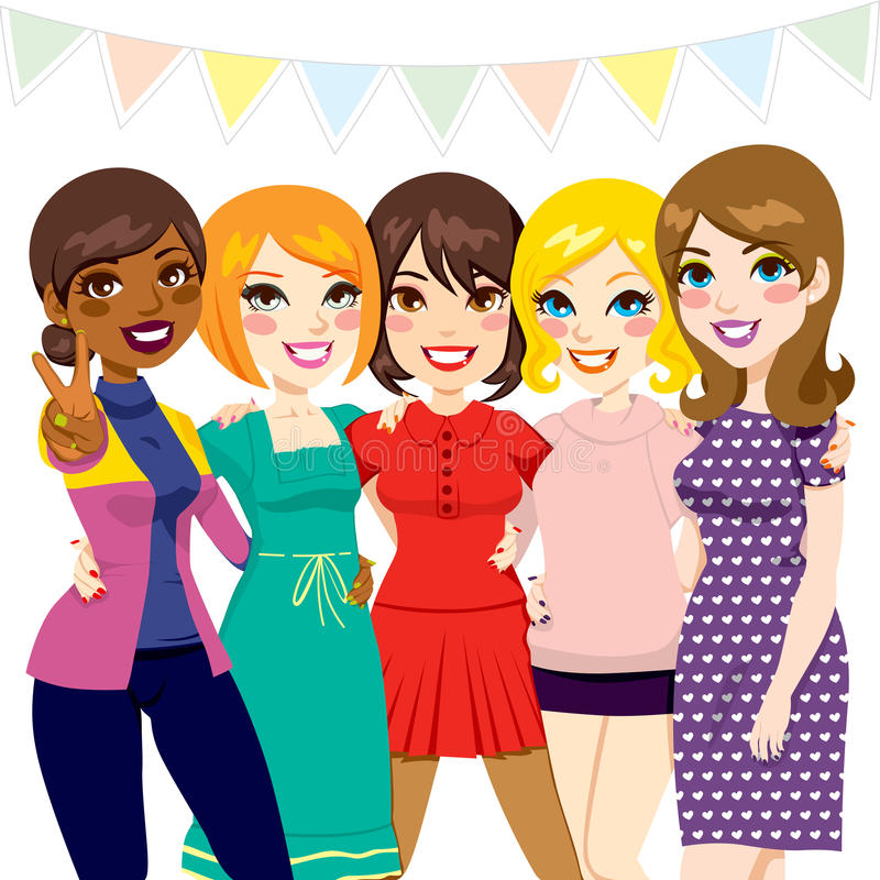 Women Friends Party Royalty Free Stock Images