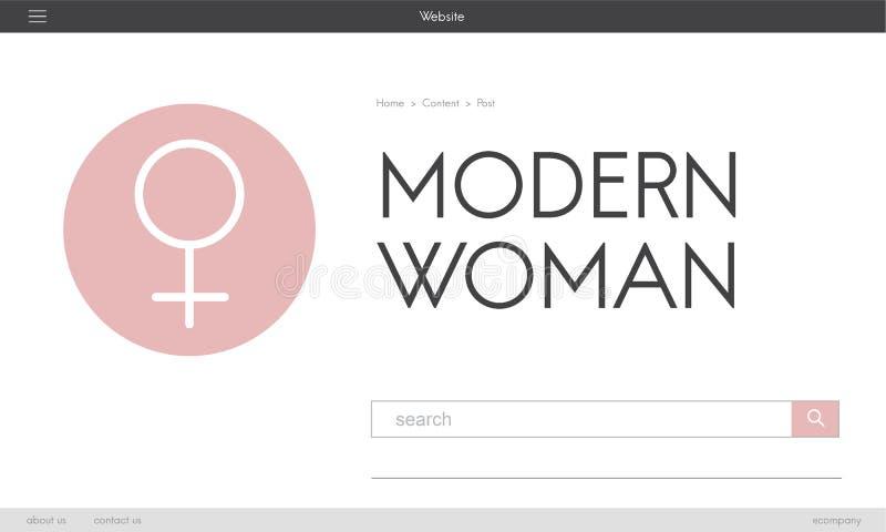 Women& x27; frihet för s-dagjämställdhet får involverat begrepp royaltyfri illustrationer