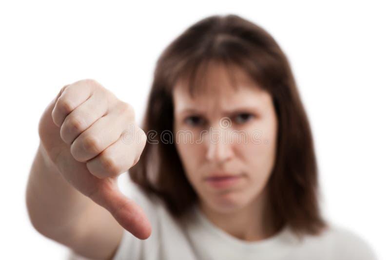 Download Women Gesturing Thumb Down Stock Image - Image: 18295041