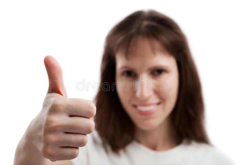 Download Women Gesturing Thumb Up Stock Images - Image: 18295054