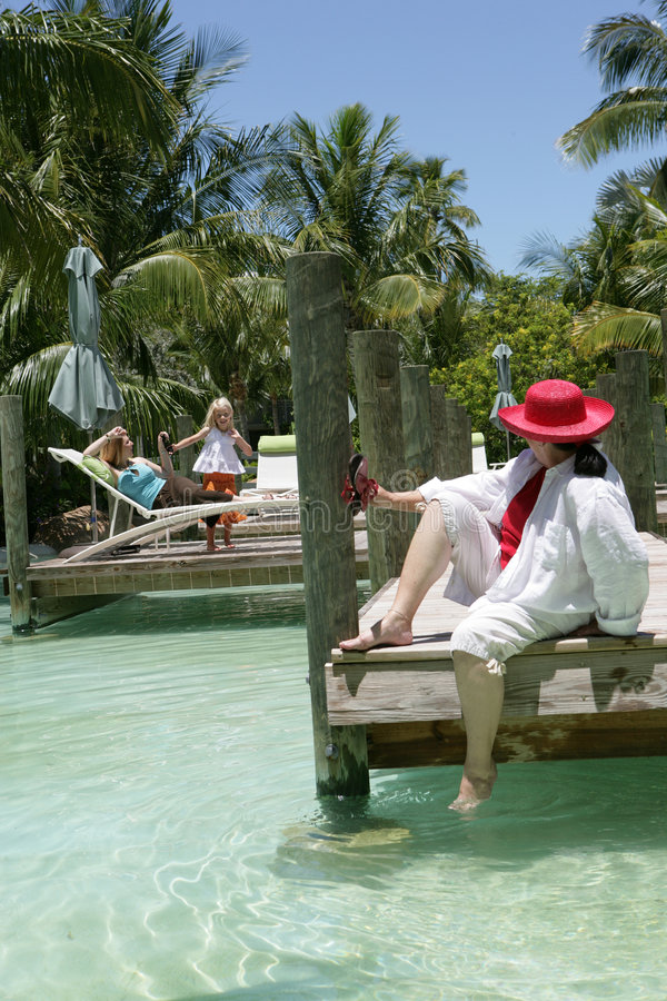 Download Women and girl on vacation stock photo. Image of sitting - 5221608