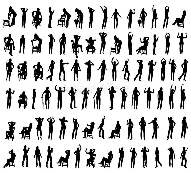 Download Women and Girls stock vector. Illustration of black, female - 2446089
