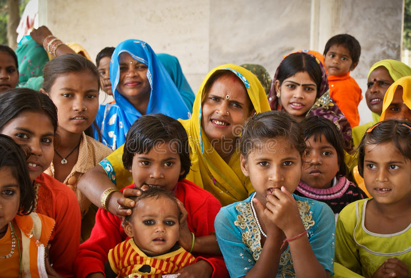 Women and girls of India stock photography