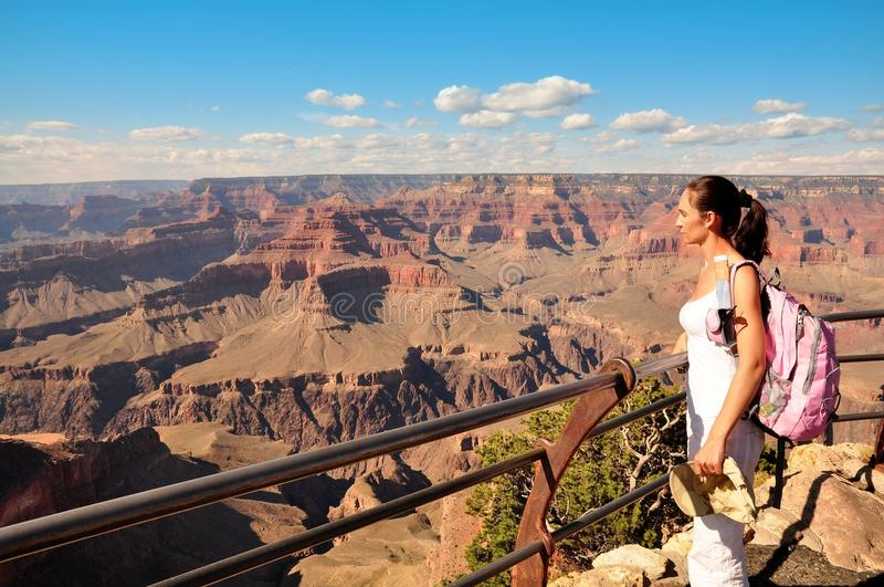 Women in grand canyon. NAtional Park stock photography
