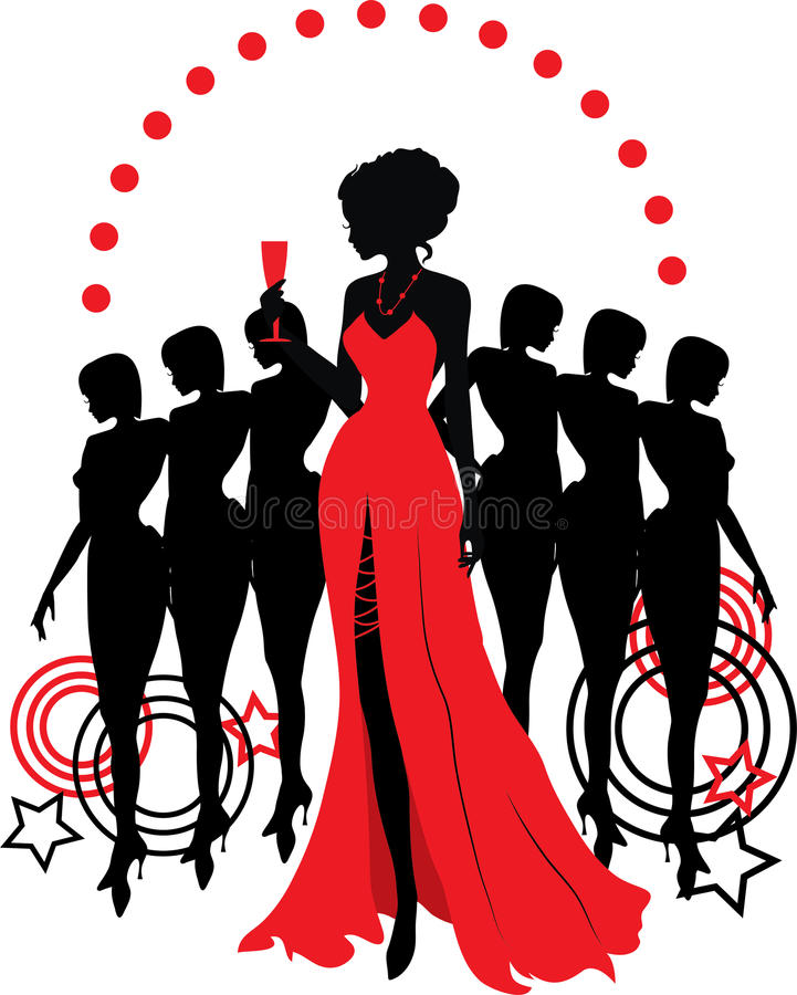 Download Women Group Graphic Silhouettes. Different Person Stock Vector - Illustration: 29220783