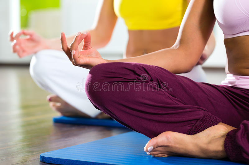 Download Women In The Gym Doing Yoga Exercise For Fitness Stock Image - Image: 31285751