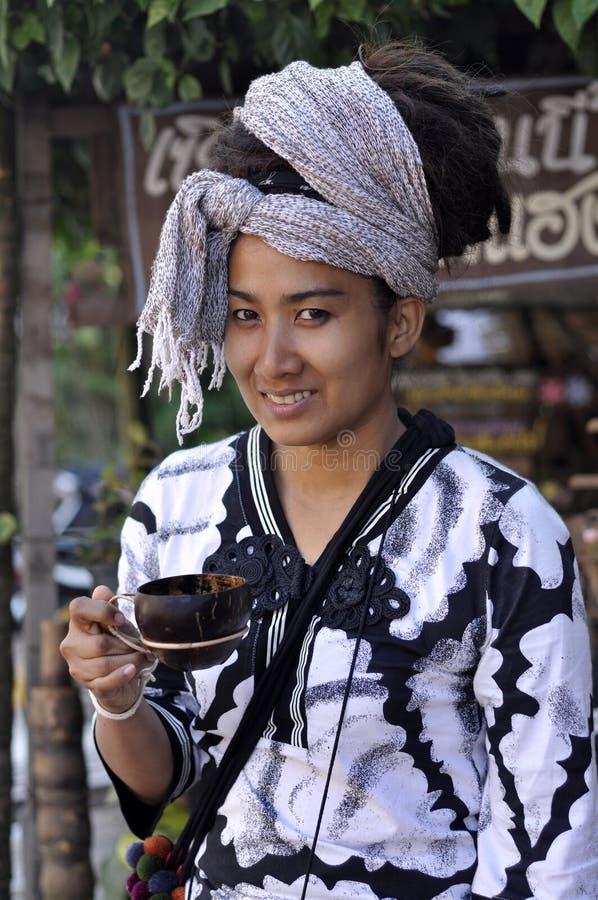 Women Hair Asia Pretty Dreadlock Drink Coconut Cup stock photos