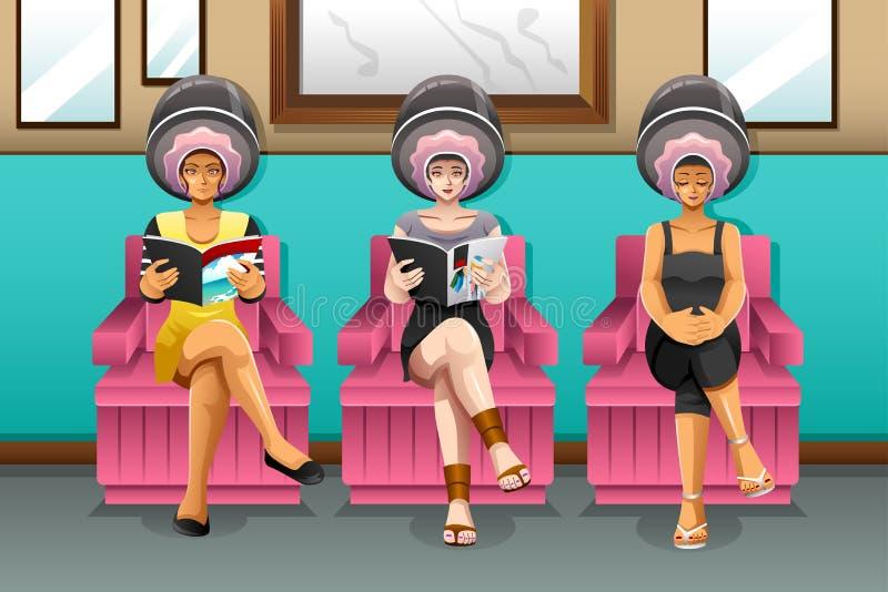 Women in Hair Salon. A vector illustration of women in hair salon vector illustration