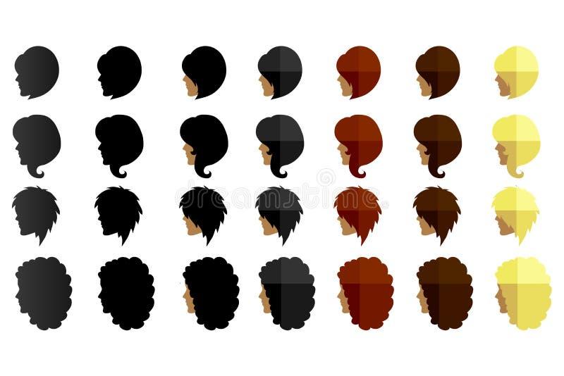 Women hairstyles vector illustration