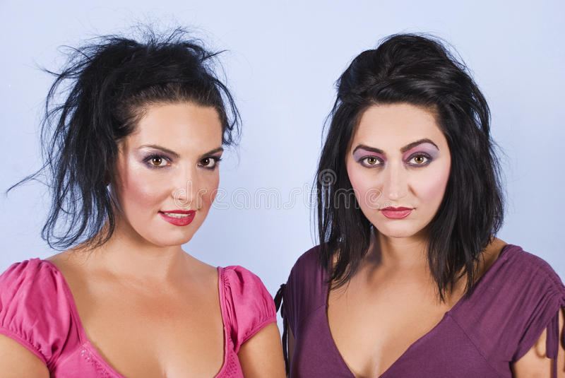 Women Hairstyles And Make Up Royalty Free Stock Photos
