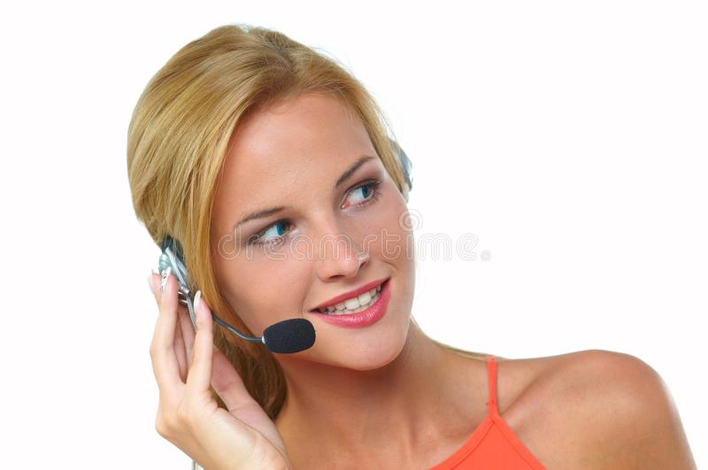 Download Women with headset stock image. Image of work, comunication - 29423805