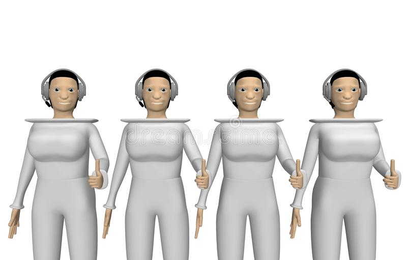 Download Women With A Headset For Conference Stock Illustration - Image: 13466033