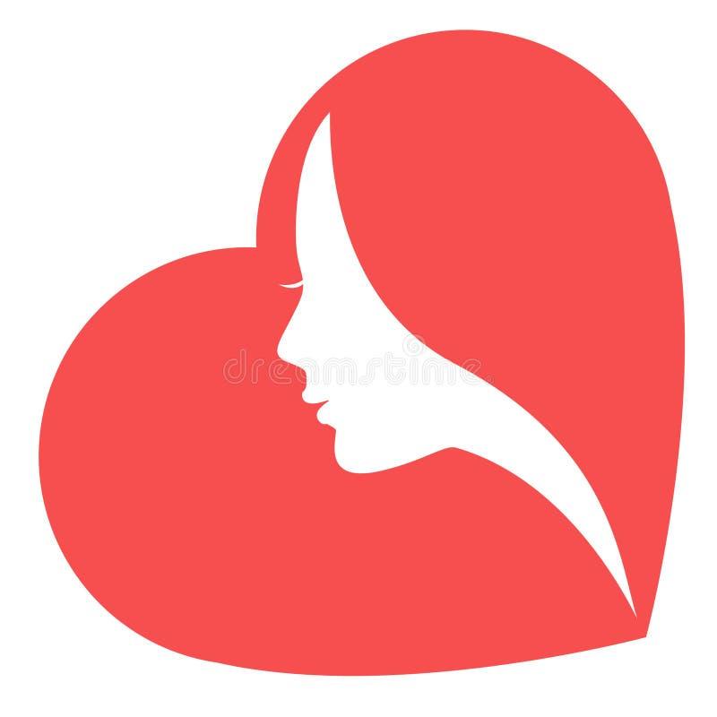 Women in heart vector illustration