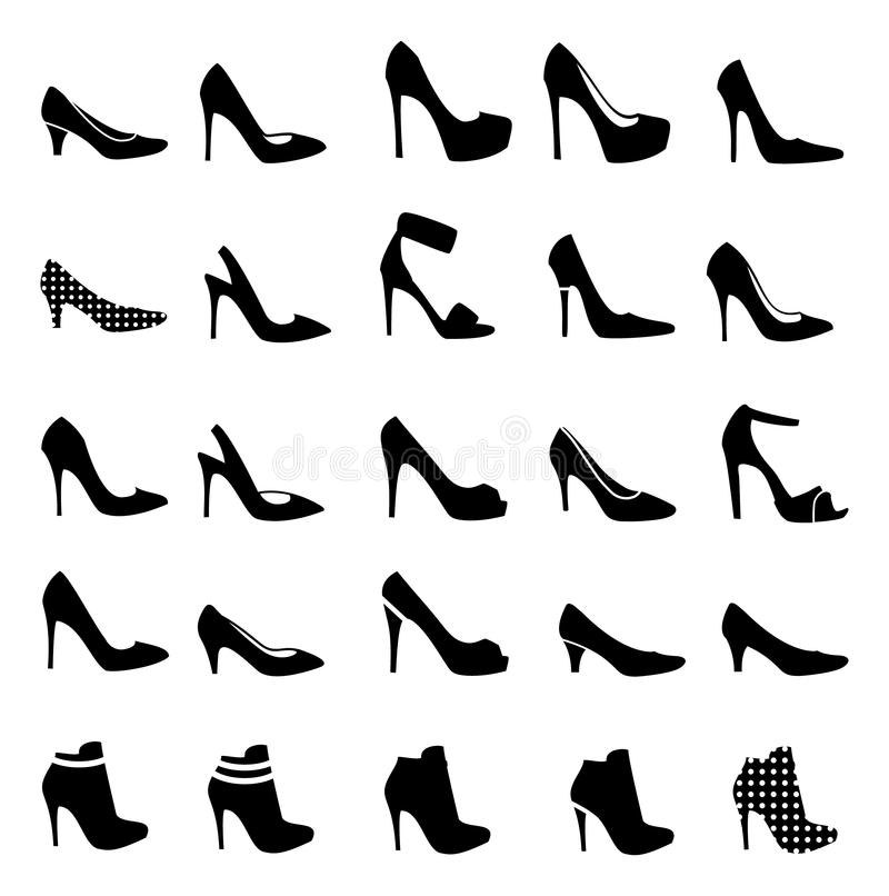Women high shoes vector illustration