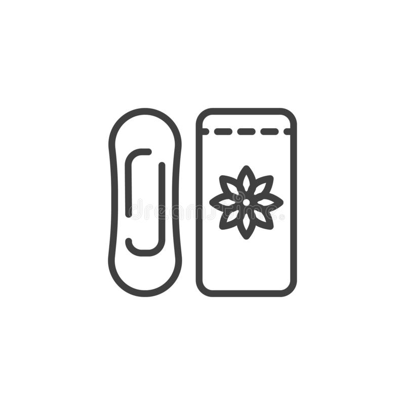 Women hygiene pad vector icon stock illustration