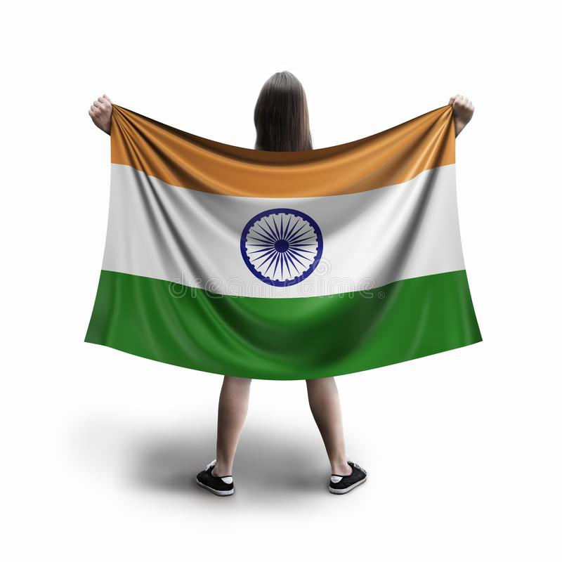 Women and Indian flag royalty free stock image