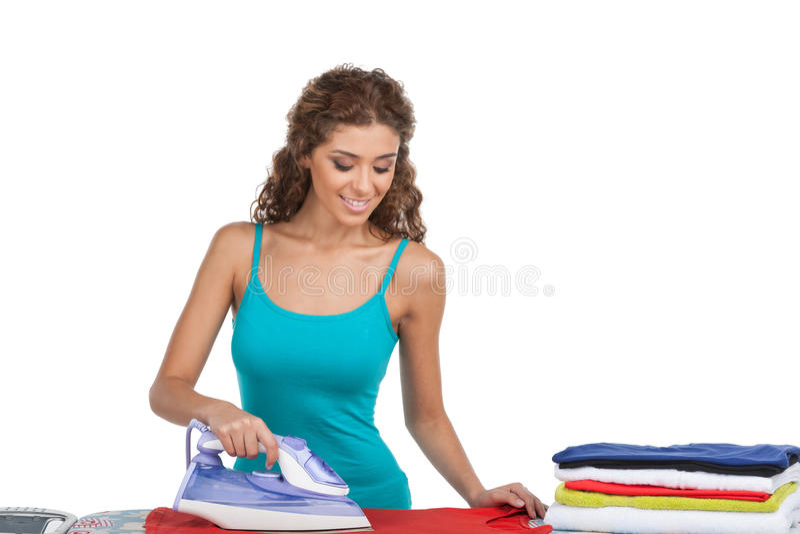 Women ironing stock photos