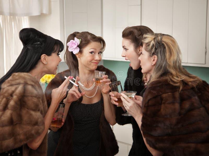 Download Women Joking and Smoking stock photo. Image of mink, drink - 19493612