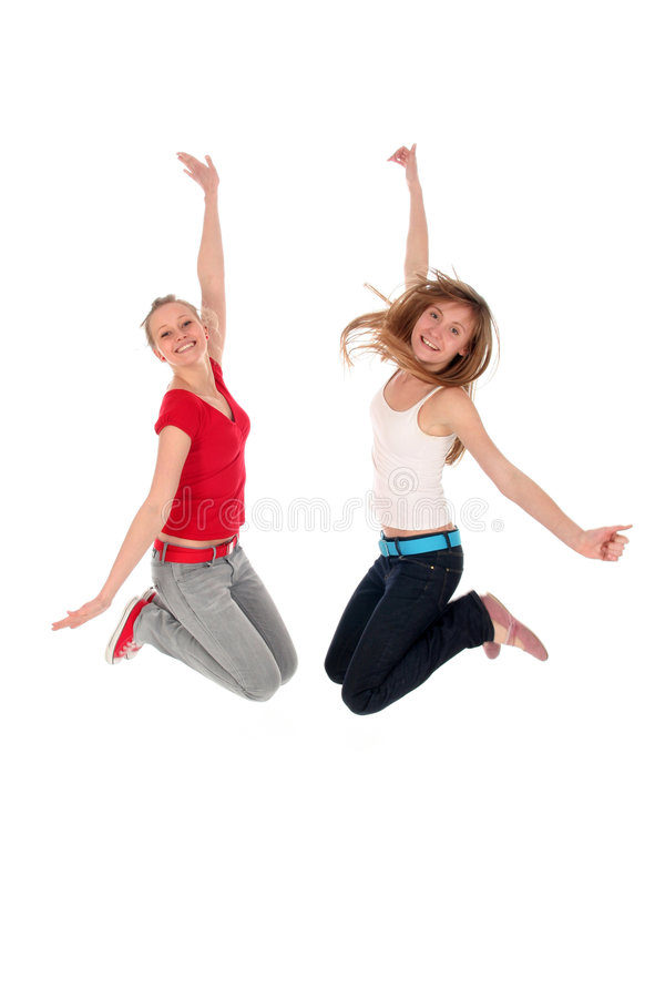 Women Jumping Royalty Free Stock Photo