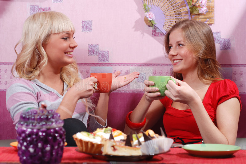 Download Women at the kitchen stock photo. Image of talk, pastry - 7785362
