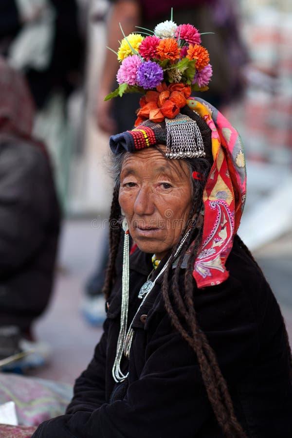 Women from Ladakh, India royalty free stock image