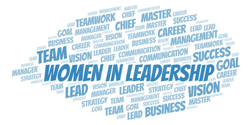 Women In Leadership word cloud royalty free illustration