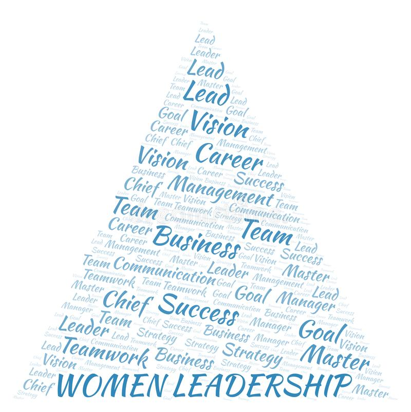 Women Leadership word cloud royalty free illustration