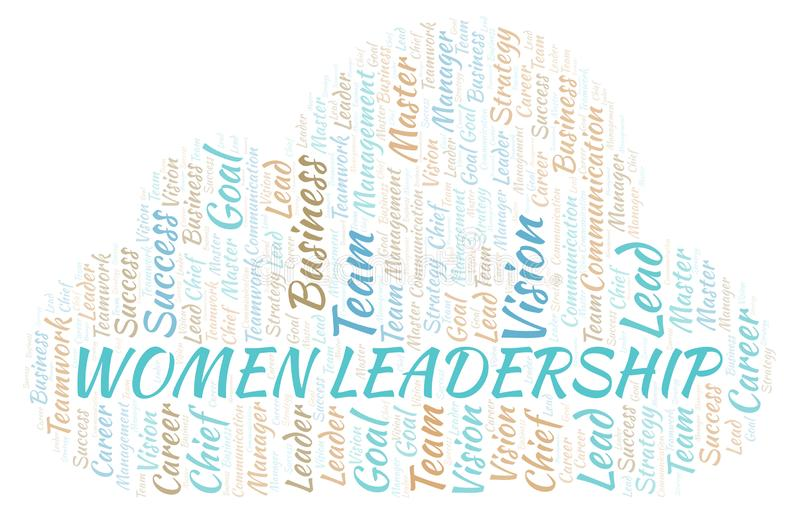 Women Leadership word cloud vector illustration