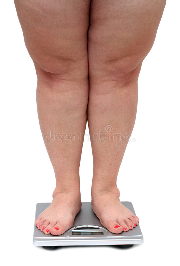 Women legs with overweight stock photography