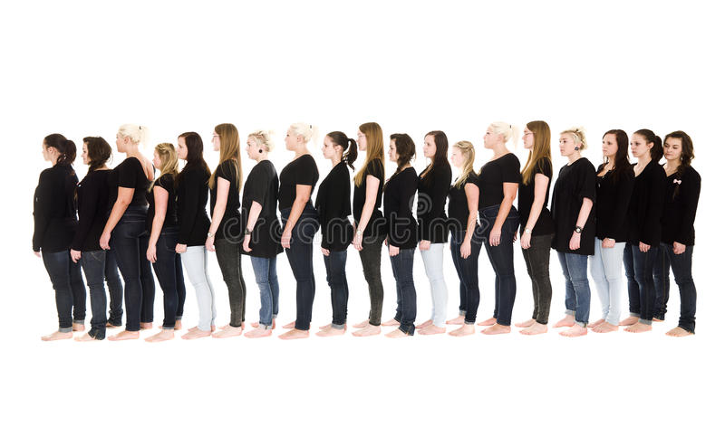 Download Women in a line stock image. Image of female, color, shot - 18924757