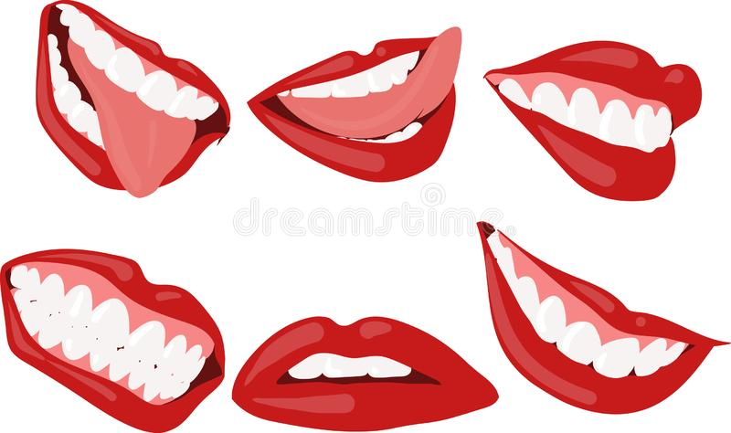 Women lips set stock photography